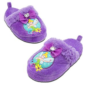 Plush Tinker Bell Slippers for Girls