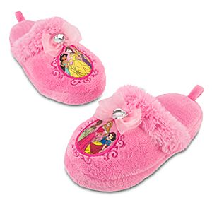Plush Disney Princess Slippers for Girls