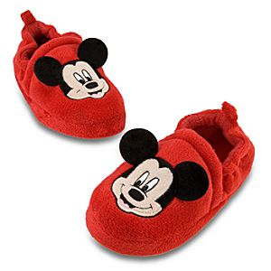 Plush Mickey Mouse Slippers for Kids