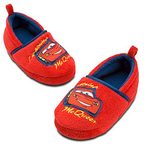 Plush Lightning McQueen Slippers for Kids