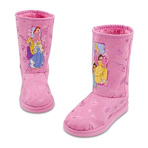 Sherpa-Lined Winter Fashion Disney Princess Boots for Girls
