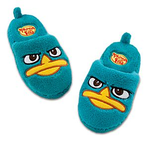 Plush Perry the Platypus Slippers for Boys