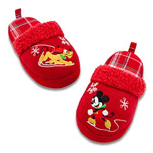 Open Heel Holiday Mickey Mouse Slippers for Kids