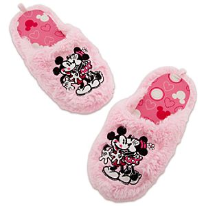 Minnie and Mickey Mouse Slippers for Women