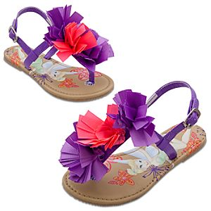 Floral Tinker Bell Sandals for Girls