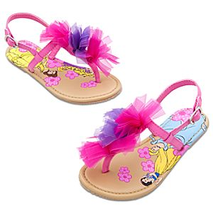 Floral Disney Princess Sandals for Girls