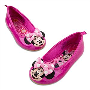 Ballet Flat Minnie Mouse Shoes for Toddler Girls