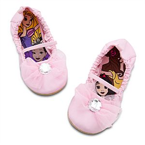 Pink Ballet Flat Disney Princess Shoes for Girls