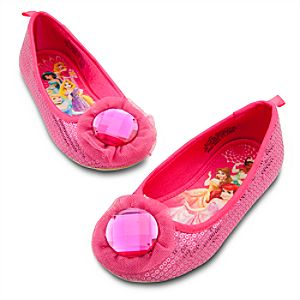 Sequin Ballet Flat Disney Princess Shoes for Girls