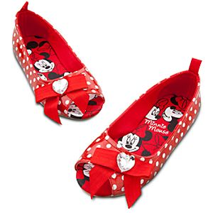 Polka Dot Ballet Flat Minnie Mouse Shoes for Girls