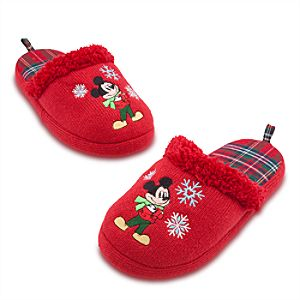 Holiday Mickey Mouse Slippers for Adults