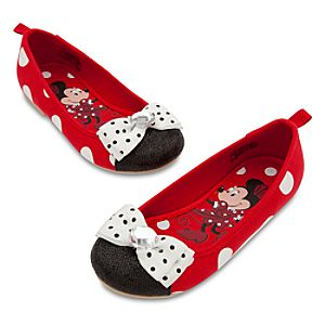 Minnie Mouse Flat Shoes for Girls - Red