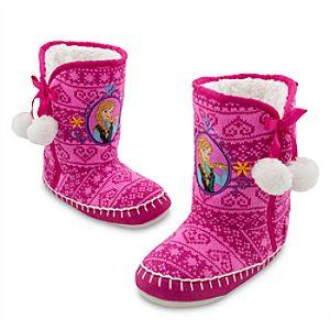 Anna Deluxe Slippers for Girls - Frozen