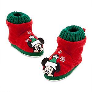 Mickey Mouse Holiday Slippers for Boys