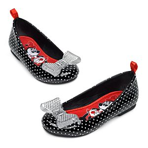 Minnie Mouse Flat Shoes for Girls - Black