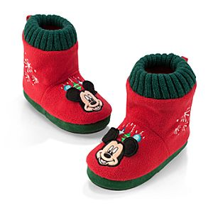 Mickey Mouse Christmas Slippers for Boys