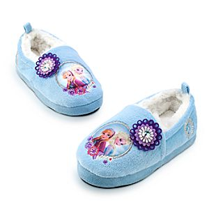 Anna and Elsa Slippers for Girls - Frozen