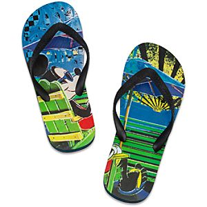 Summer Brights Mickey Mouse Flip Flops for Men