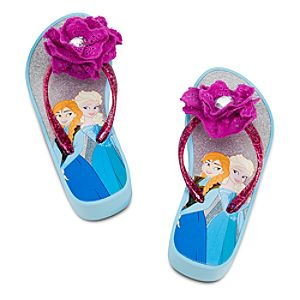 Anna and Elsa Platform Flip Flops for Girls - Frozen