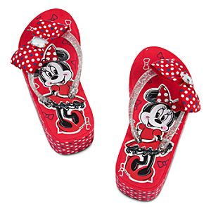 Minnie Mouse Platform Flip Flops for Girls