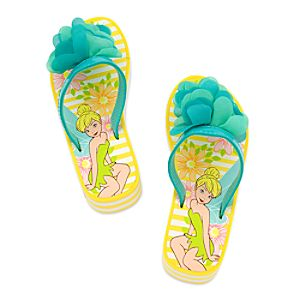 Tinker Bell Platform Flip Flops for Girls
