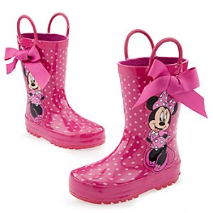 Minnie Mouse Rain Boots for Toddler Girls