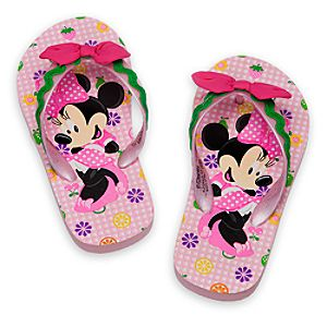 Minnie Mouse Clubhouse Flip Flops for Girls