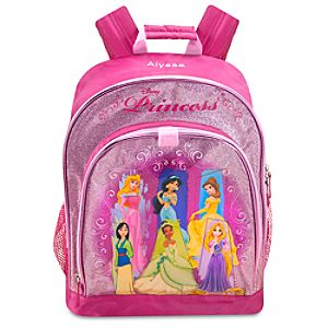 Personalized Glittering Disney Princess Backpack