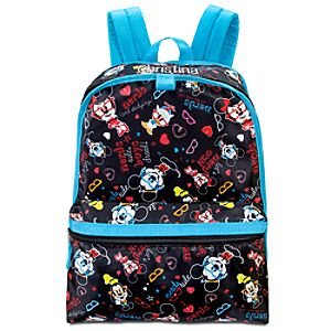 Personalized Nerd Minnie and Mickey Mouse Backpack