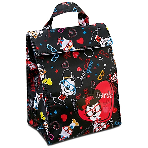 Nerd Mickey and Minnie Mouse Lunch Bag