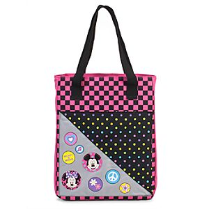 Button Minnie and Mickey Mouse Tote