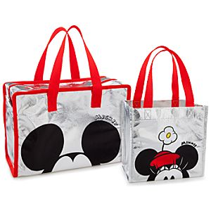 Minnie and Mickey Mouse Tote Set -- 2-Pc.