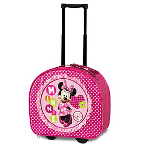 Polka-Dotted Minnie Mouse Rolling Luggage