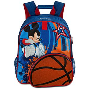 Personalized Basketball Mickey Mouse Backpack