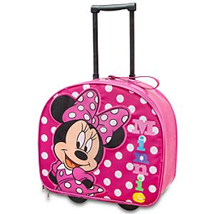 Glitter Minnie Mouse Rolling Luggage