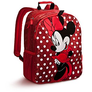 Personalizable Minnie Mouse Backpack -- Red