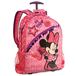 Minnie Mouse Rolling Backpack - Personalizable