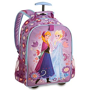 Anna and Elsa Rolling Backpack - Frozen - Personalizable