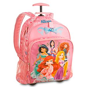 Back to School Backpacks for Girls |Disney Princess Rolling Backpack - Personalizable