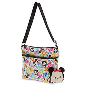 "Disney ""Tsum-Tsum"" Crossbody Bag with Minnie Mouse Plush Coin Purse"