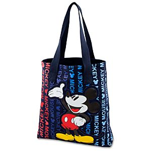 Canvas Mickey Mouse Tote