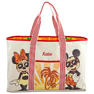 Personalizable Summer Brights Mickey Mouse Tote