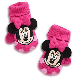 Fingerless Minnie Mouse Gloves for Girls