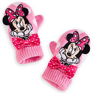 Minnie Mouse Mittens for Girls