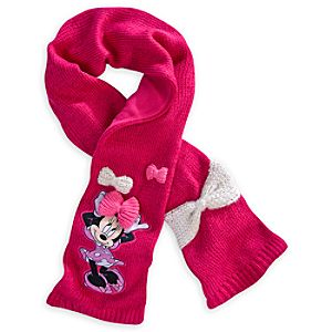 Minnie Mouse Knit Scarf for Girls