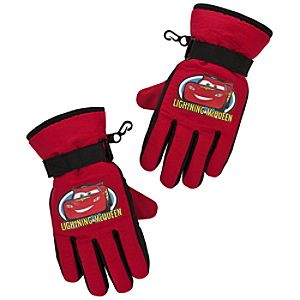 Warm Wear Lightning McQueen Gloves for Boys