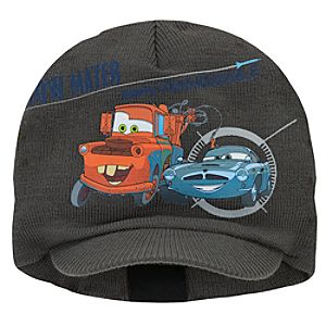 Knit Cars 2 Finn McMissile and Tow Mater Beanie Hat for Boys