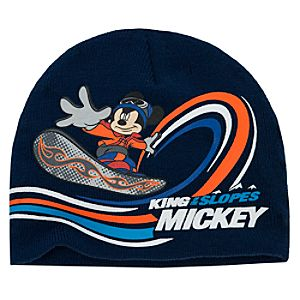 Knit Mickey Mouse Beanie Hat for Boys