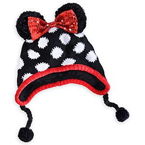 Minnie Mouse Knitted Hat for Girls - Personalizable