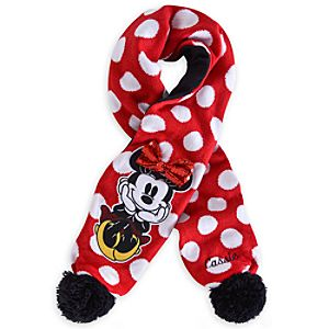 Minnie Mouse Scarf - Red - Personalizable